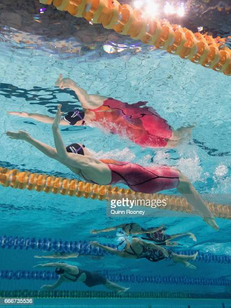 Minna Atherton of Australia competes in the Women's 100m Backstroke during the 2017 Australian Swimming Championships at the Sleeman Sports Complex...