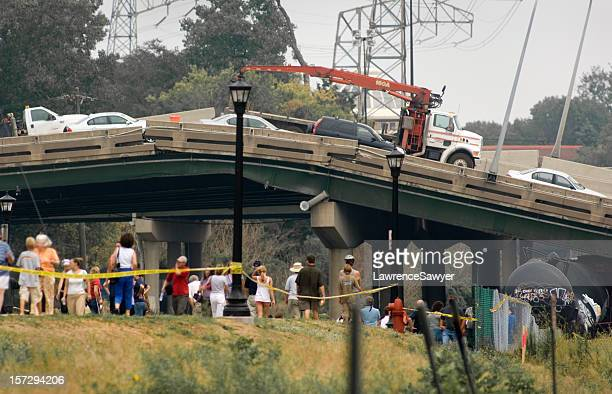 minneapolis bridge collapse - collapsing stock pictures, royalty-free photos & images