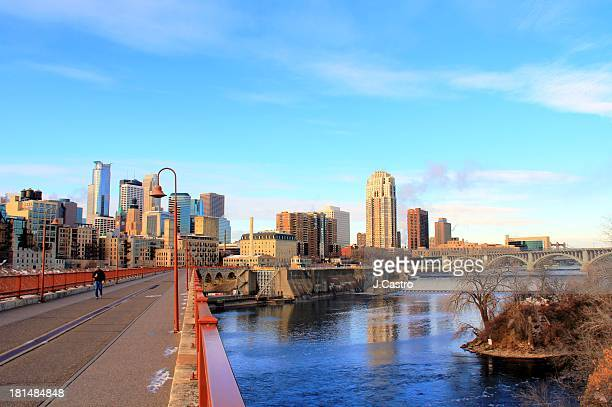 minneapolis downtown - minneapolis stock photos and pictures