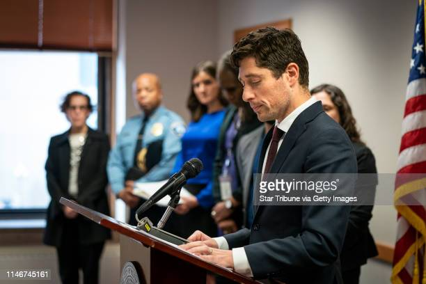 Minneapolis Mayor Jacob Frey with the full city council and Minneapolis Police chief Medaria Arradondo announced the city of Minneapolis will pay the...