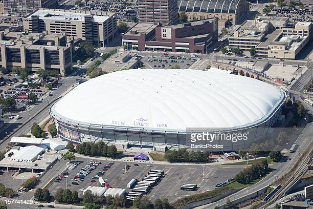 minneapolis metrodome, mall of america field aerial - mall of america stock photos and pictures