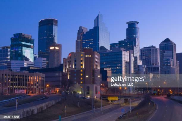 minneapolis, minnesota downtown skyline - minneapolis stock pictures, royalty-free photos & images