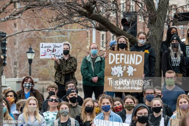 Minneapolis, Minnesota. University of Minnesota students gathered at the UMPD station to end the deployment of UMPD to quell protesters in Brooklyn...