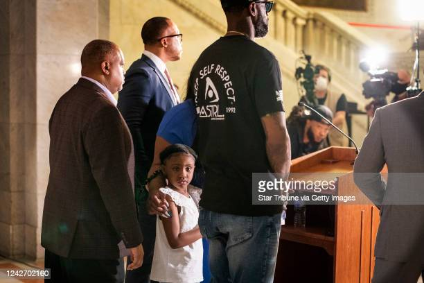 George Floyd's daughter Gianna Floyd attended a press conference with her mother Roxie Washington at Minneapolis City Hall Roxie Washington the...