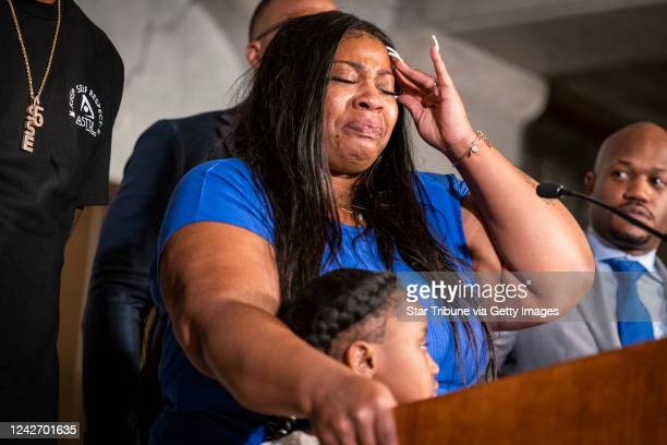 Roxie Washington the mother of George Floyd's sixyearold daughter Gianna Floyd got emotional during a press conference at Minneapolis City Hall Roxie...