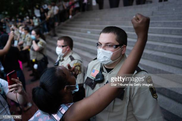 What began as a largely peaceful march of thousands through downtown Minneapolis ended in violent skirmishes between police and groups of protesters
