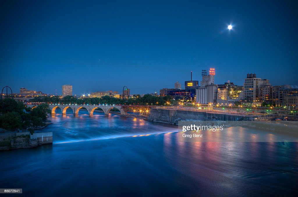 Minneapolis on the Mississippi : Stock Photo
