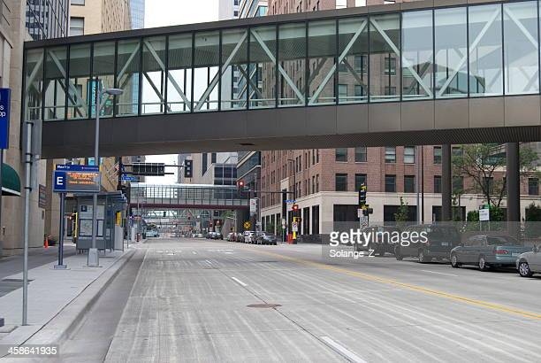 minneapolis - elevated walkway stock pictures, royalty-free photos & images