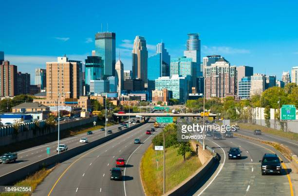 Minneapolis skyline and Highway