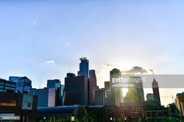 Minneapolis Skyline and Sunbeams