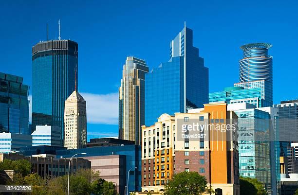 Minneapolis skyline closeup