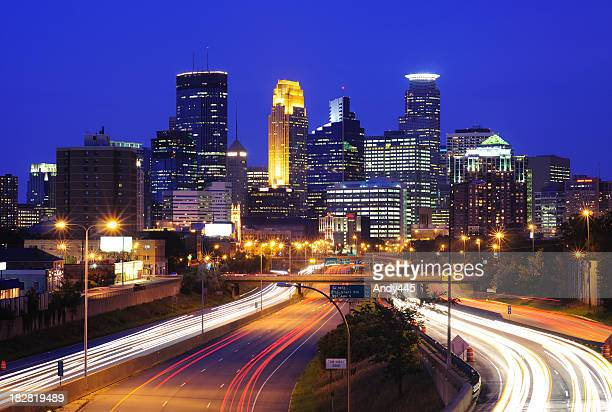 minneapolis skyline - minneapolis stock photos and pictures