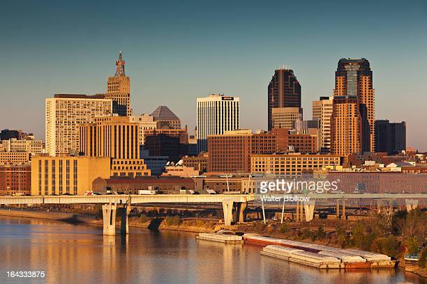 minneapolis, st. paul, minnesota, city view - st. paul minnesota stock pictures, royalty-free photos & images