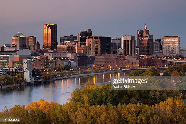 minneapolis, st. paul, minnesota, city view - minneapolis stock pictures, royalty-free photos & images