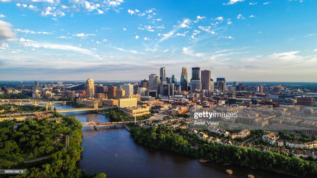 Minneapolis - Summer Cityscape : Stock Photo