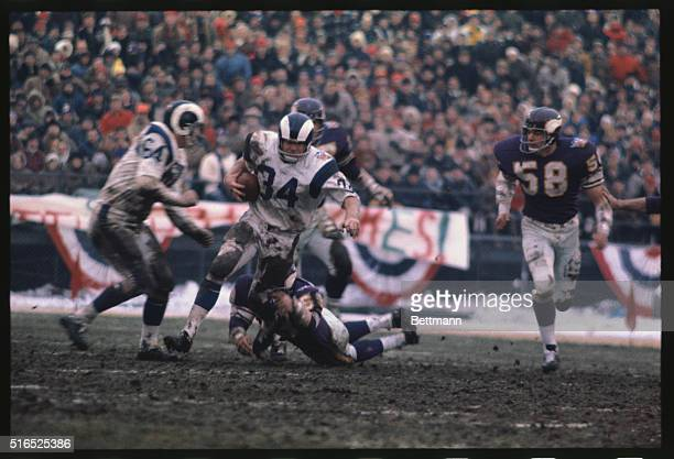 The following action in the third quarter of the NFL playoff here between the Minnesota Vikings and the Los Angeles Rams