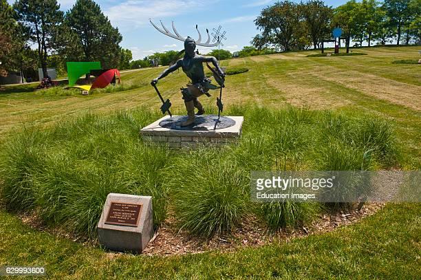 Minnesota Chaska Minnesota Landscape Arboretum Sculpture Garden Apache Mountain Spirit Dancer by Goseyun