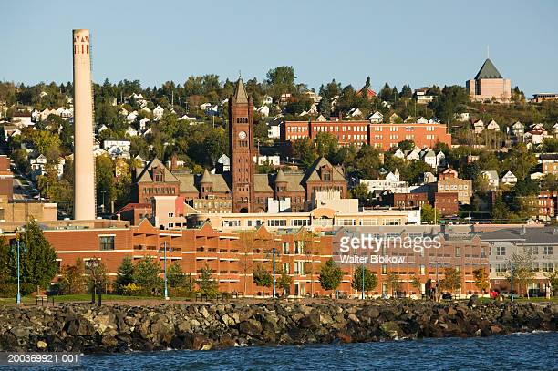 usa, minnesota, duluth, cityscape - duluth minnesota stock pictures, royalty-free photos & images