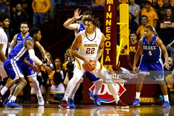 Minnesota Golden Gophers center Reggie Lynch in action in the 1st half during the regular season game between the Drake Bulldogs and the Minnesota...