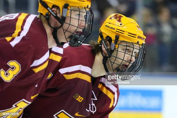 Minnesota Golden Gophers forward Tommy Novak during the second period of the Big Ten Super Saturday College Ice Hockey Game between the Minnesota...