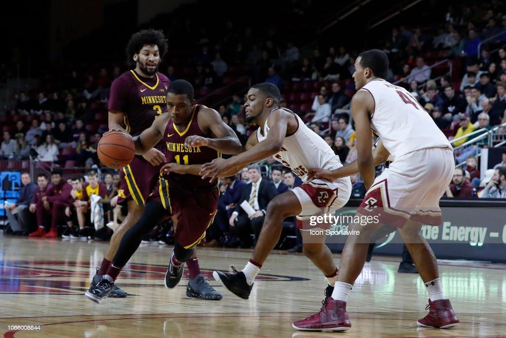 COLLEGE BASKETBALL: NOV 26 Minnesota at Boston College : News Photo