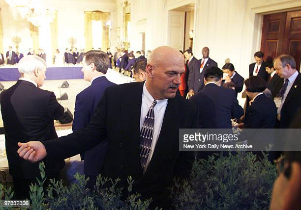 Minnesota Gov Jesse Ventura is on hand at a meeting of the nation's governors in the East Room of the White HouseThe President discussed his proposed...