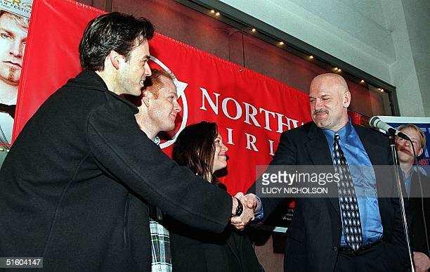 Minnesota Governor Jesse Ventura congratulates filmmakers of the movie With or Without You which was filmed in Minnesota at the premiere 22 March...