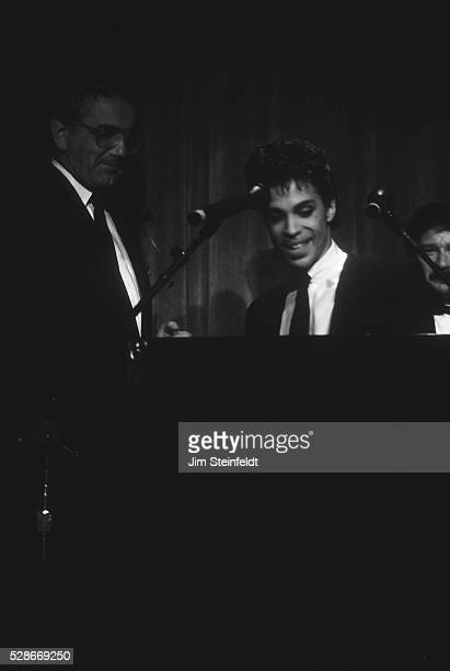 Minnesota governor Rudy Perpich and Prince at the Minnesota Music Awards at the Carlton Celebrity Room in Bloomington Minnesota on May 20 1986
