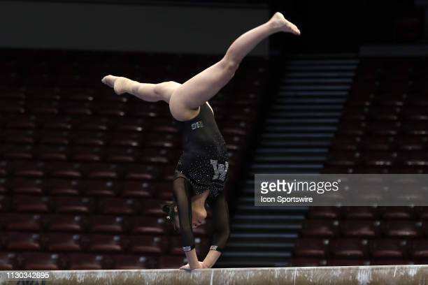 Minnesota gymnast Ivy Lu during the Elevate the Stage Meet on March 8 2019 at Legacy Arena in Birmingham Alabama