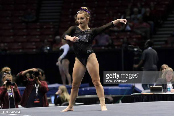 Minnesota gymnast Kaitlyn Higgins during the Elevate the Stage Meet on March 8 2019 at Legacy Arena in Birmingham Alabama