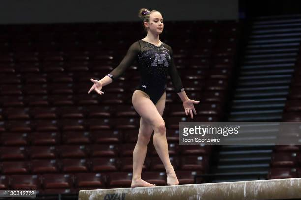 Minnesota gymnast Lexy Ramler during the Elevate the Stage Meet on March 8 2019 at Legacy Arena in Birmingham Alabama