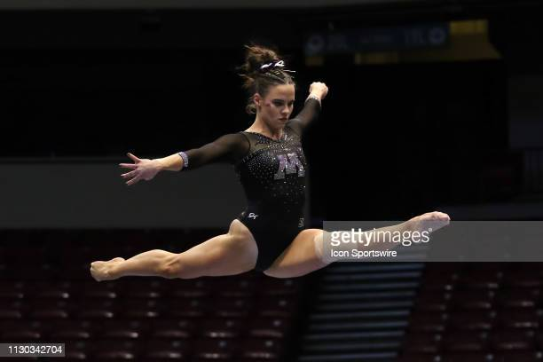 Minnesota gymnast Mary KorlinDowns during the Elevate the Stage Meet on March 8 2019 at Legacy Arena in Birmingham Alabama