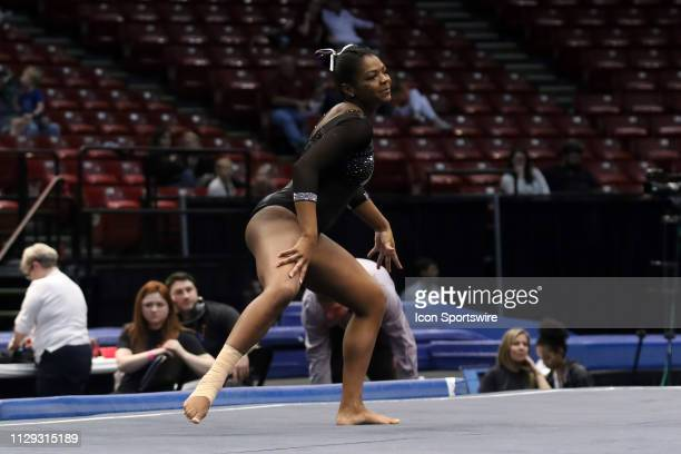 Minnesota gymnast Paige Williams during the Elevate the Stage Meet on March 8 2019 at Legacy Arena in Birmingham Alabama