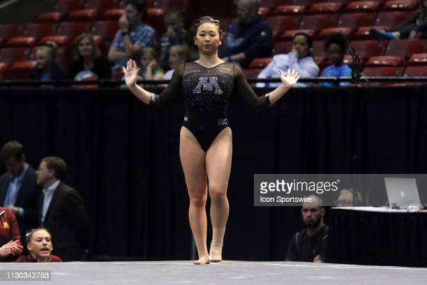 Minnesota gymnast Selena Ung during the Elevate the Stage Meet on March 8 2019 at Legacy Arena in Birmingham Alabama