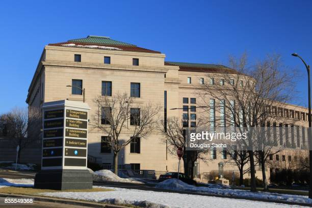 minnesota judicial supreme court building, st.paul, minnesota, usa - minnesota stock pictures, royalty-free photos & images