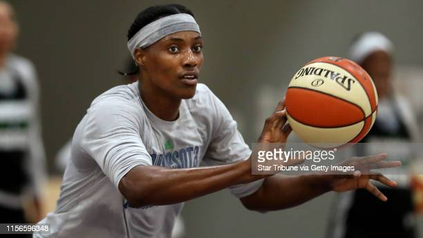 Minnesota Lynx center Sylvia Fowles worked on drills during Lynx practice at Mayo Clinic Square Thursday September 72017 in Minneapolis MN ] JERRY...
