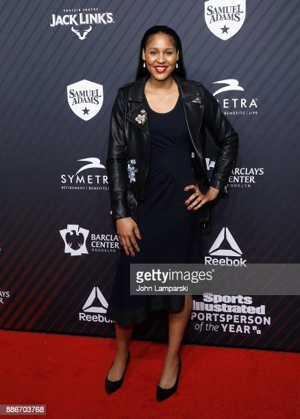 Minnesota Lynx Maya Moore attends 2017 Sports Illustrated Sportsperson of the Year Awards at Barclays Center on December 5 2017 in New York City