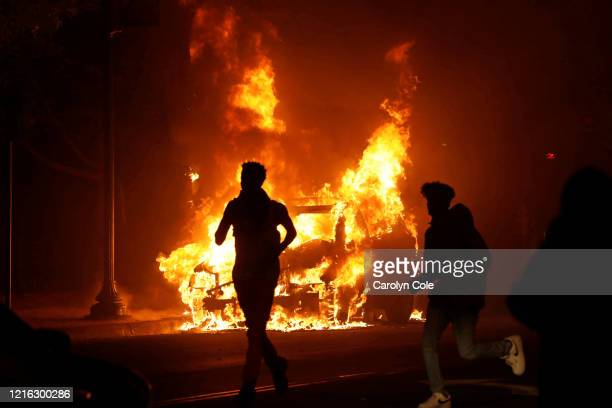 MINNEAPOLIS Minnesota MAY 29 2020Despite a curfew protests and looting went all throughout the night in various parts of the city of Minneapolis on...