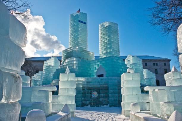 Minnesota Saint Paul Rice Park Winter Carnival 2018