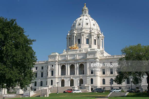 Minnesota State Capitol Building Exterior, St. Paul Famous Government Dome
