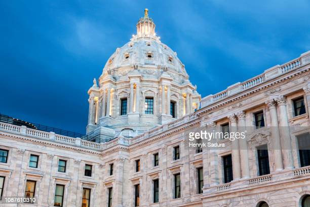 minnesota state capitol building - geometrical architecture stock photos and pictures