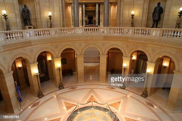 kapitol von minnesota innen rotunda balkon, eine regierung berühmten place - kapitell stock-fotos und bilder