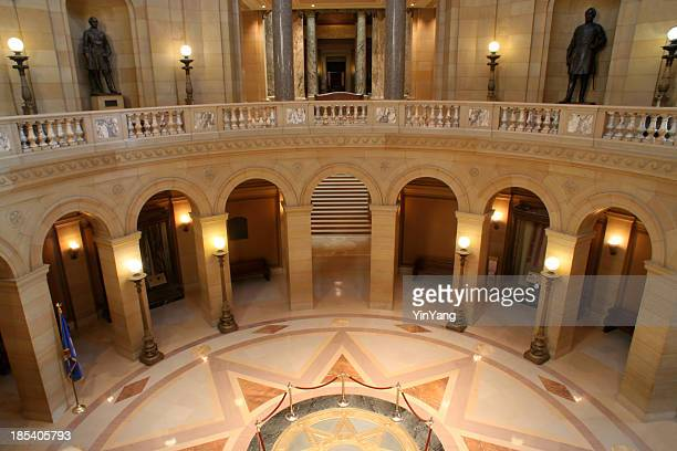 Kapitol von Minnesota innen Rotunda Balkon, eine Regierung berühmten Place