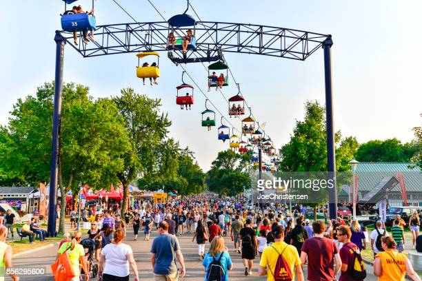 Minnesota State Fair - Crowds of People and Sky Ride