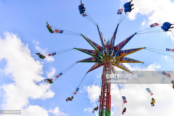 minnesota state fair - rides and people - county_fair stock pictures, royalty-free photos & images