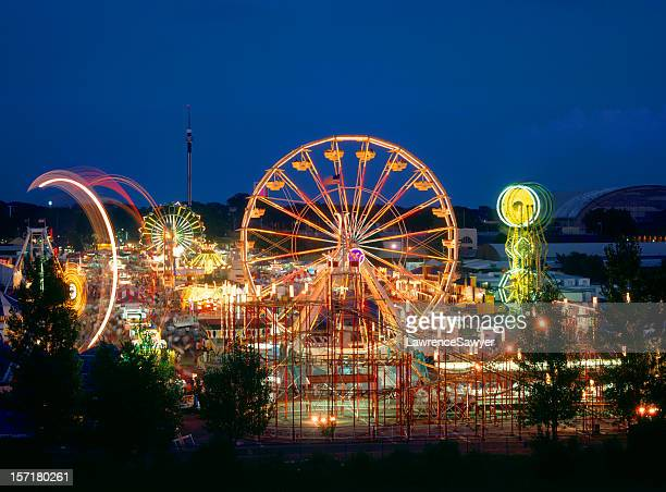 minnesota state fair rides - carnival stock photos and pictures