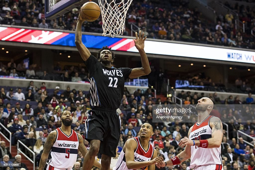 Washington Wizards vs Minnesota Timberwolves : Fotografía de noticias