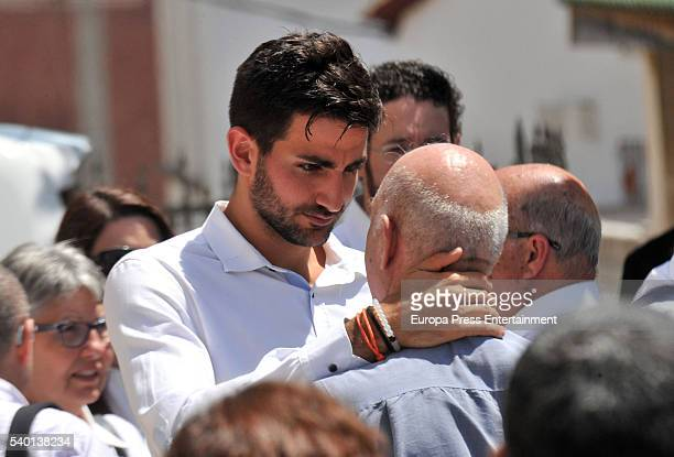 Minnesota Timberwolves basketball player Ricky Rubio attends the funeral for his mother Tona Vives at Sant Pere church in El Maresme on May 27 2016...