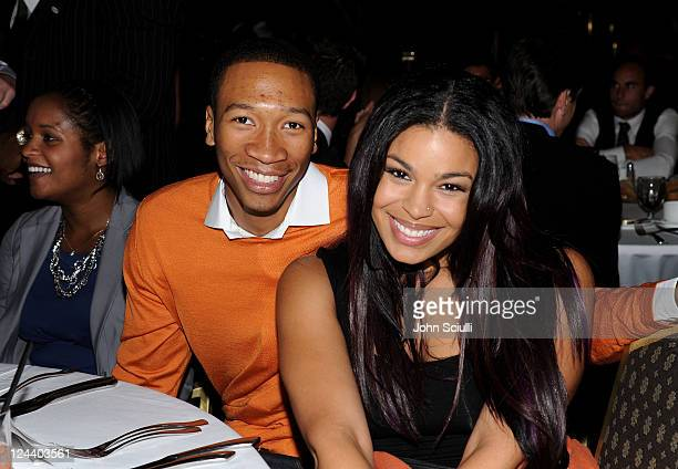 Minnesota Timberwolves basketball player Wesley Johnson and singer Jordin Sparks attend the 2011 Cedars Sinai Sports Spectacular at Hyatt Regency...