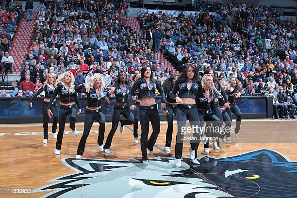 Minnesota Timberwolves dancers perform during the game against the Chicago Bulls March 30 2011 at Target Center in Minneapolis Minnesota The Bulls...